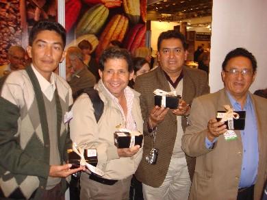 Una parte de la delegación peruana: Hiderico Bocangel, Gonzalo Rios, Romulo Echegaray y Mario Cavero