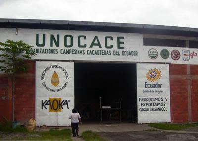 Local de UNOCACE en Guayaquil: La Unión de Campesinos cacaoteros de Ecuador